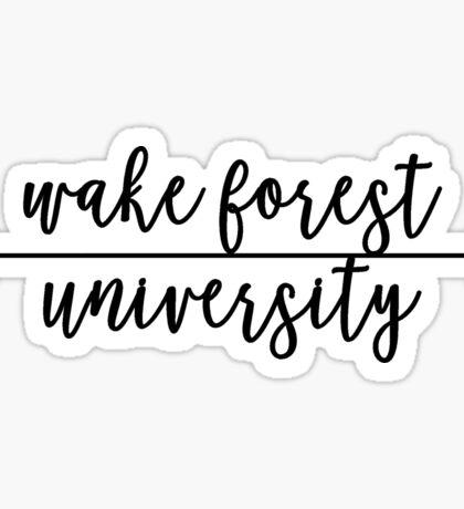 Wake Forest University Sticker