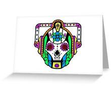 Cybermen Sugarskull Greeting Card