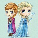 Anna & Elsa by Katie Corrigan