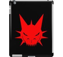 Red Dragon's Head Design On Black Background iPad Case/Skin