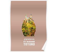 Totoro Minimalist Poster Poster