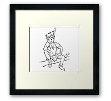 Peter Pan Sketch Framed Print
