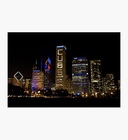 Cubs Symmetrical Skyline Chicago Photographic Print