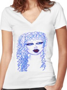 Nina Esse Women's Fitted V-Neck T-Shirt