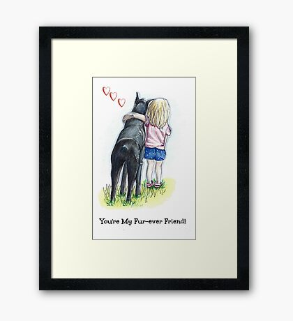 Puppy Love Fur-ever Friend Framed Print