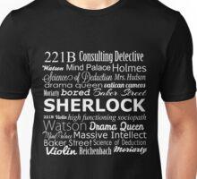 Sherlock in Words Unisex T-Shirt