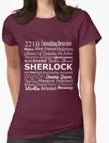 Sherlock in Words Womens Fitted T-Shirt