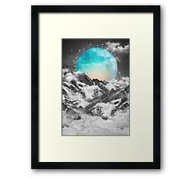 It Seemed To Chase the Darkness Away (Guardian Moon / Winter Moon) Framed Print