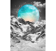 It Seemed To Chase the Darkness Away (Guardian Moon / Winter Moon) Photographic Print