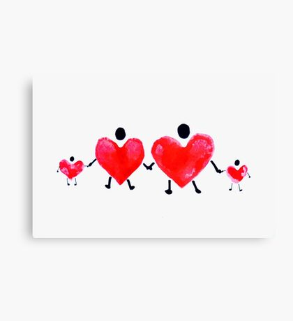 Heart People Series #4 Canvas Print