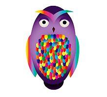 Rainbow Owl by tabyway