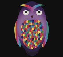 Rainbow Owl Kids Tee