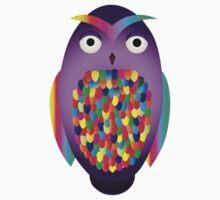 Rainbow Owl Baby Tee