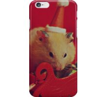 I am your little Santa Hamster  iPhone Case/Skin
