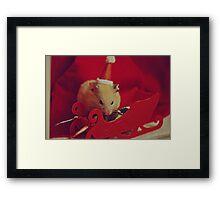 I am your little Santa Hamster  Framed Print