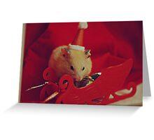 I am your little Santa Hamster  Greeting Card