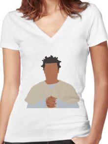 "Suzanne ""Crazy Eyes"" Warren Women's Fitted V-Neck T-Shirt"