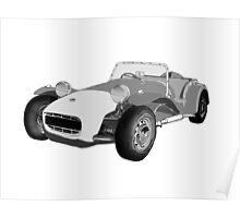 Lotus 7                 No number plate Poster