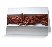 Spicy Roasted Honey Pecans Greeting Card