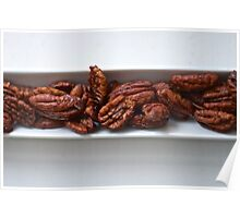 Spicy Roasted Honey Pecans Poster