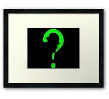 Riddler question mark Framed Print