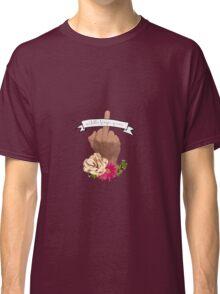 Middle Finger Queen Banner Classic T-Shirt