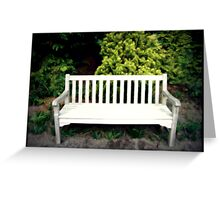 A Day At The Arboretum #5 - Take A Seat Greeting Card