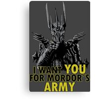 Mordor´s Army Canvas Print