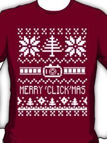 Ugly Christmas Sweater - Camera / Merry 'Click'Mas T-Shirt