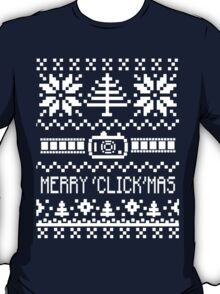 Ugly Christmas Sweater - Camera / Merry 'Click'Mas T-Shirt