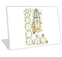 Space ship schematics   Laptop Skin