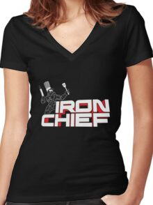 Iron Chief Women's Fitted V-Neck T-Shirt