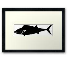 Bonito Fish Silhouette (Black) Framed Print