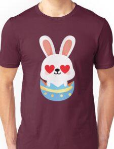Bunny Easter Egg Emoji Heart and Love Eye Unisex T-Shirt