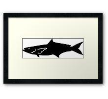 Cobia Fish Silhouette (Black) Framed Print