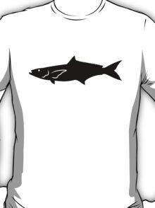 Cobia Fish Silhouette (Black) T-Shirt