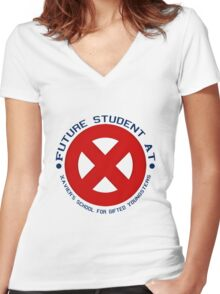 Future Xavier's Student Shirts Women's Fitted V-Neck T-Shirt