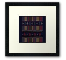 Who's Scarf Framed Print