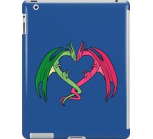 Flying Love Dragons On Blue Background Design iPad Case/Skin