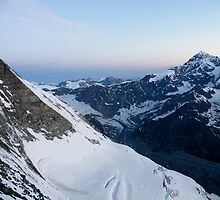 Glacier on the north face by Roy Martin Lindman