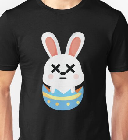 Bunny Easter Egg Emoji Faint and Knock Out Unisex T-Shirt