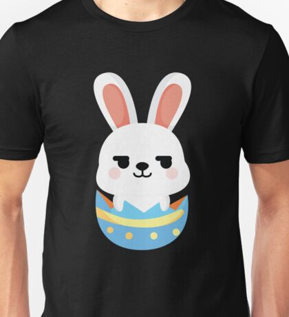 Bunny Easter Egg Emoji Cheeky and Up to Something Unisex T-Shirt