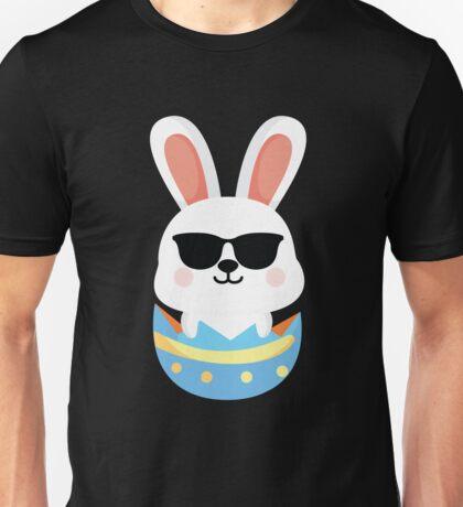 Bunny Easter Egg Emoji Cool Sunglasses Unisex T-Shirt