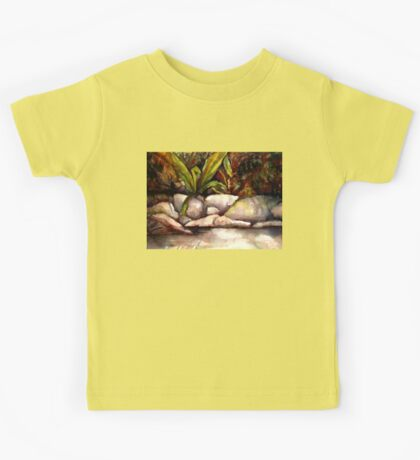 The Rock Pool Watercolour & Gouache Painting  Kids Tee