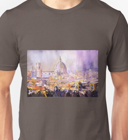 Florence, Italy cityscape- watercolor painting Unisex T-Shirt
