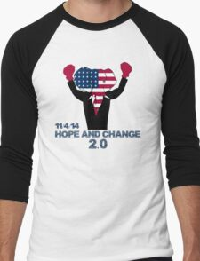 Hope and Change 2.0 Men's Baseball ¾ T-Shirt