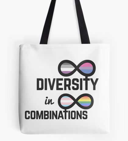 Infinite Diversity in Infinite Combinations Tote Bag