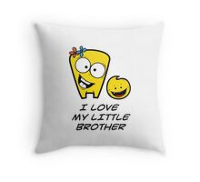I LOVE MY LITTLE BROTHER Throw Pillow