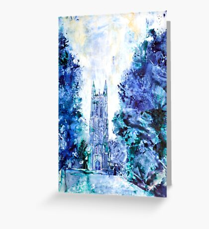 Duke Chapel- Duke University Greeting Card