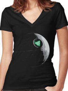 Outlook Not So Good Women's Fitted V-Neck T-Shirt